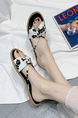 Black and White Open Toe Sandals Shoes