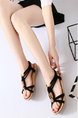 Black and Beige Suede Open Toe Platform Ankle Strap Sandals